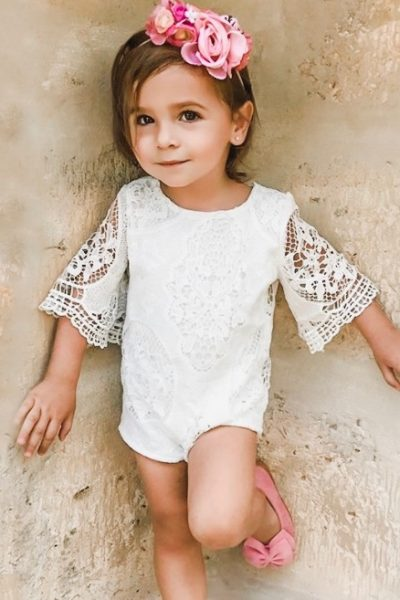 Lace Baby Girl Romper Outfit